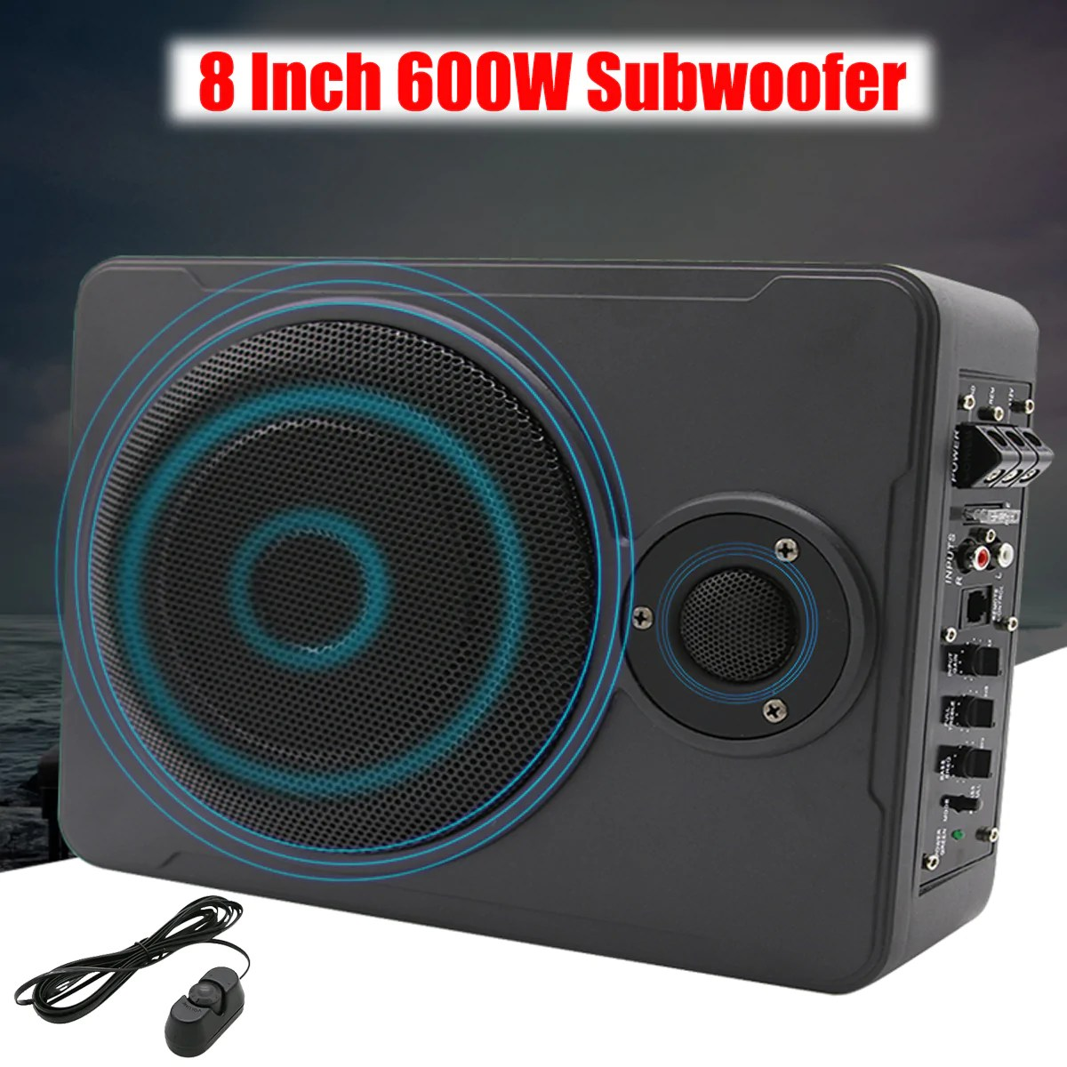 8 inch bluetooth car home subwoofer under seat sub 600w stereo subwoof budget friendly decor [ 1200 x 1200 Pixel ]
