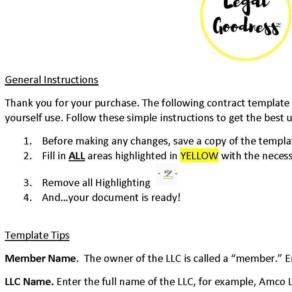 Simple llc operating agreement template. Llc Operating Agreement Template Legal Goodness