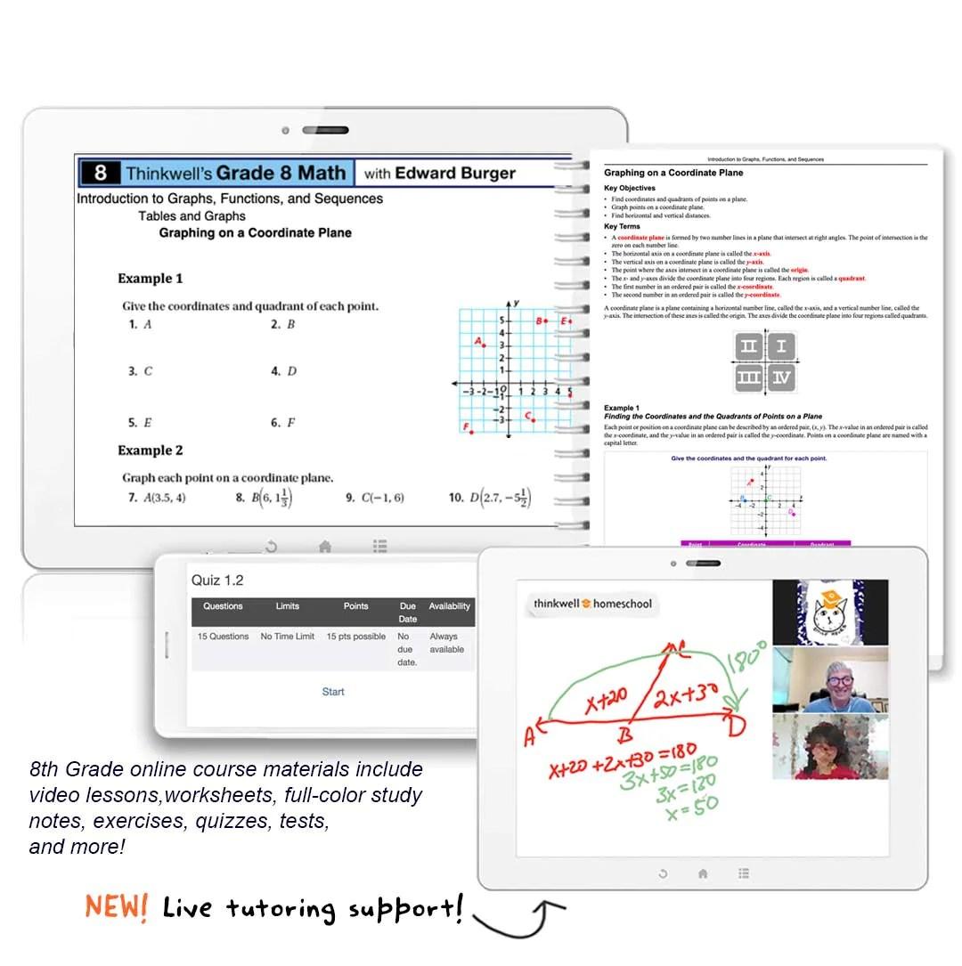 medium resolution of 8th Grade Math Online Course   Thinkwell   Thinkwell Homeschool