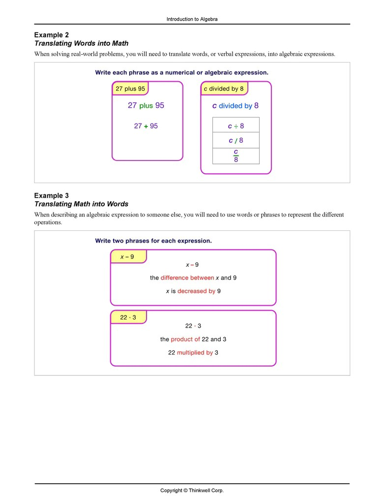hight resolution of Honors 6th Grade Math Printed Notes   Thinkwell Homeschool