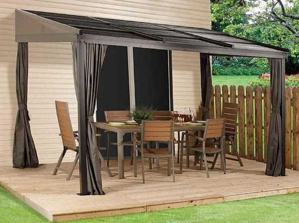 sojag 10x12 francfort patio gazebo netting and curtains included