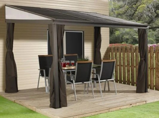 sojag portland patio gazebo netting and curtains included
