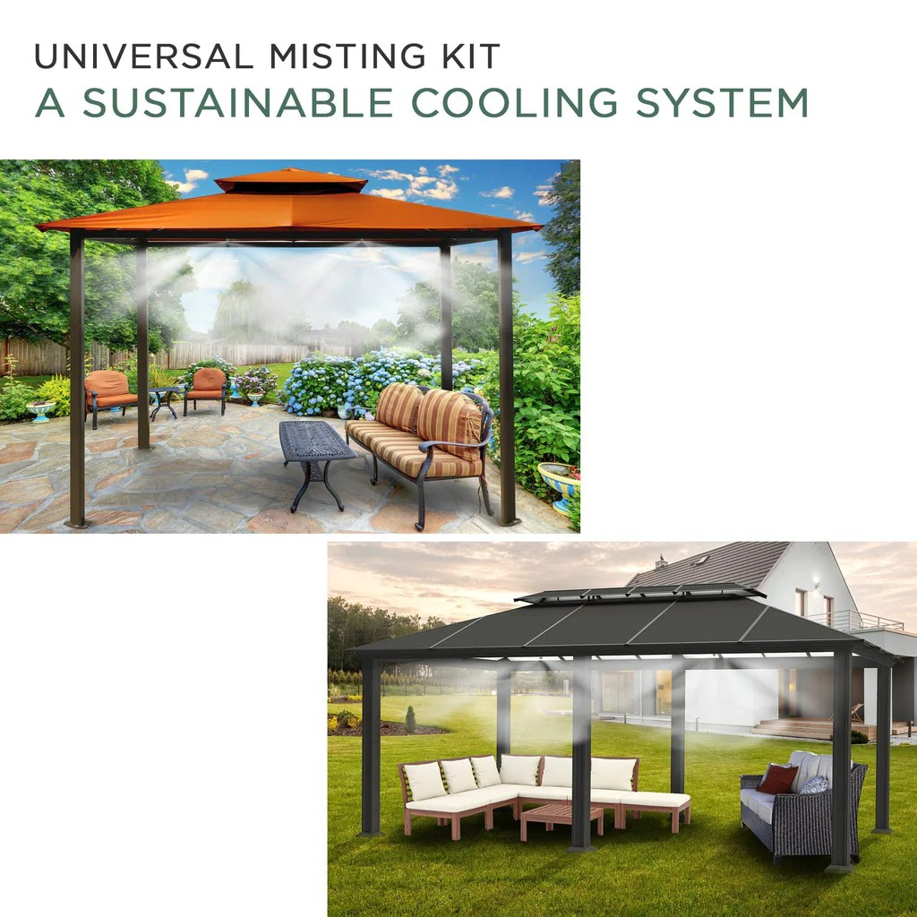 universal outdoor eco misting kit with timer easy diy