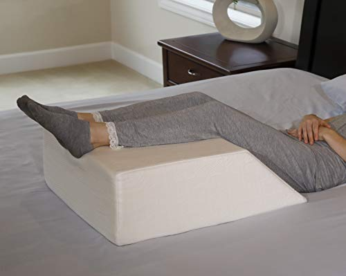 bed wedge pillow elevating leg rest provides relief for back hip and knee pain