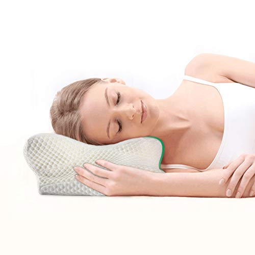 cervical pillow contour pillow with hypoallergenic pillowcase for neck and shoulder pain
