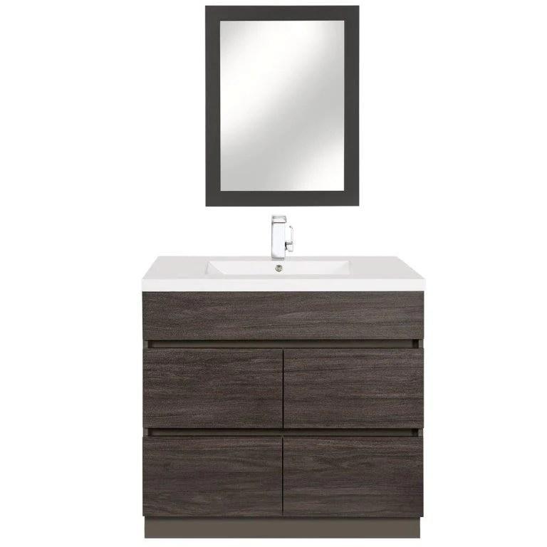 cutler kitchen and bath rugs runners boardwalk 36 in handless bathroom vanity