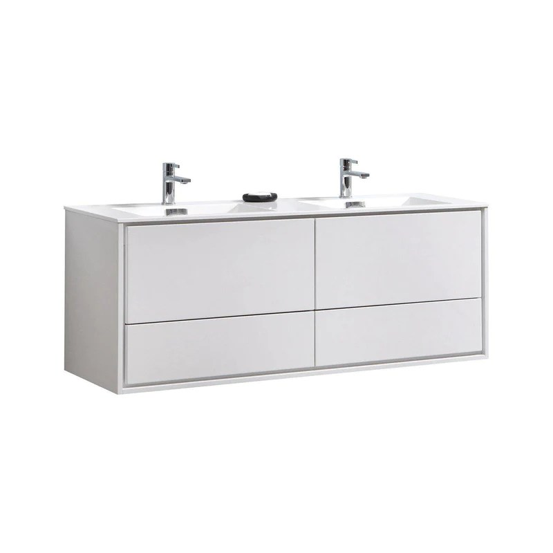 cutler kitchen and bath vanity exhaust systems commercial urban 60 in double bathroom kubebath delusso sink high glossy white floating