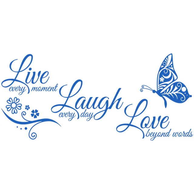 live laugh love butterfly