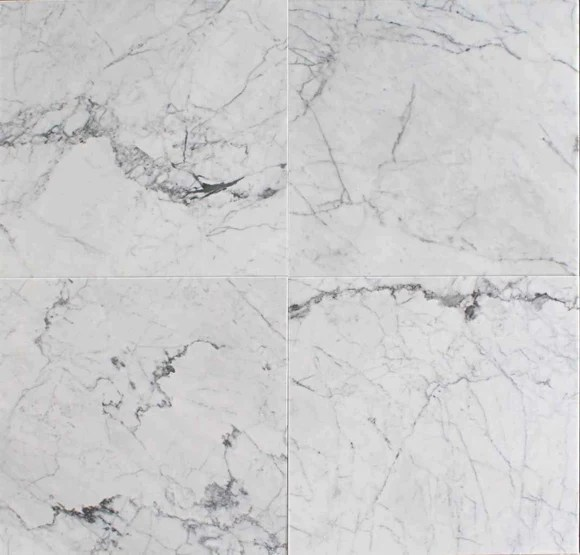 statuary white marble tile 18x18 polished