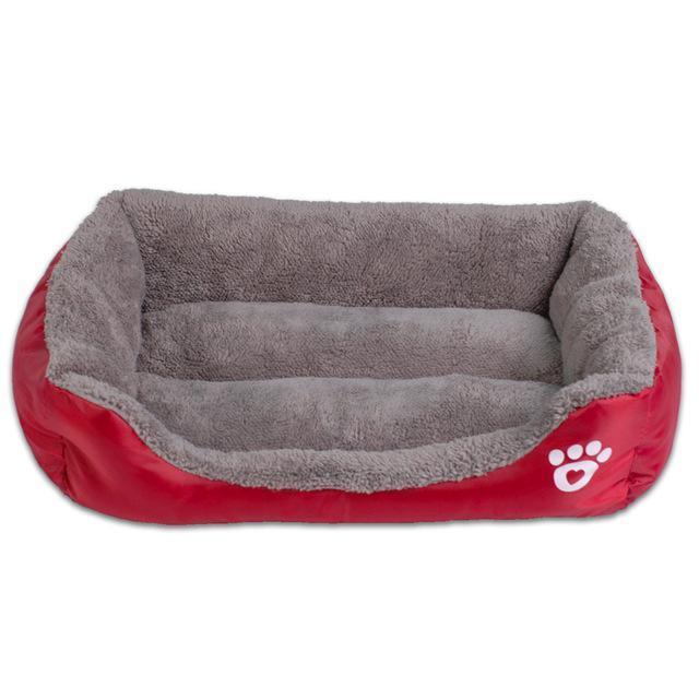 soft sofa dog bed best ikea sleeper paw pet fleece beds junxion wine red s