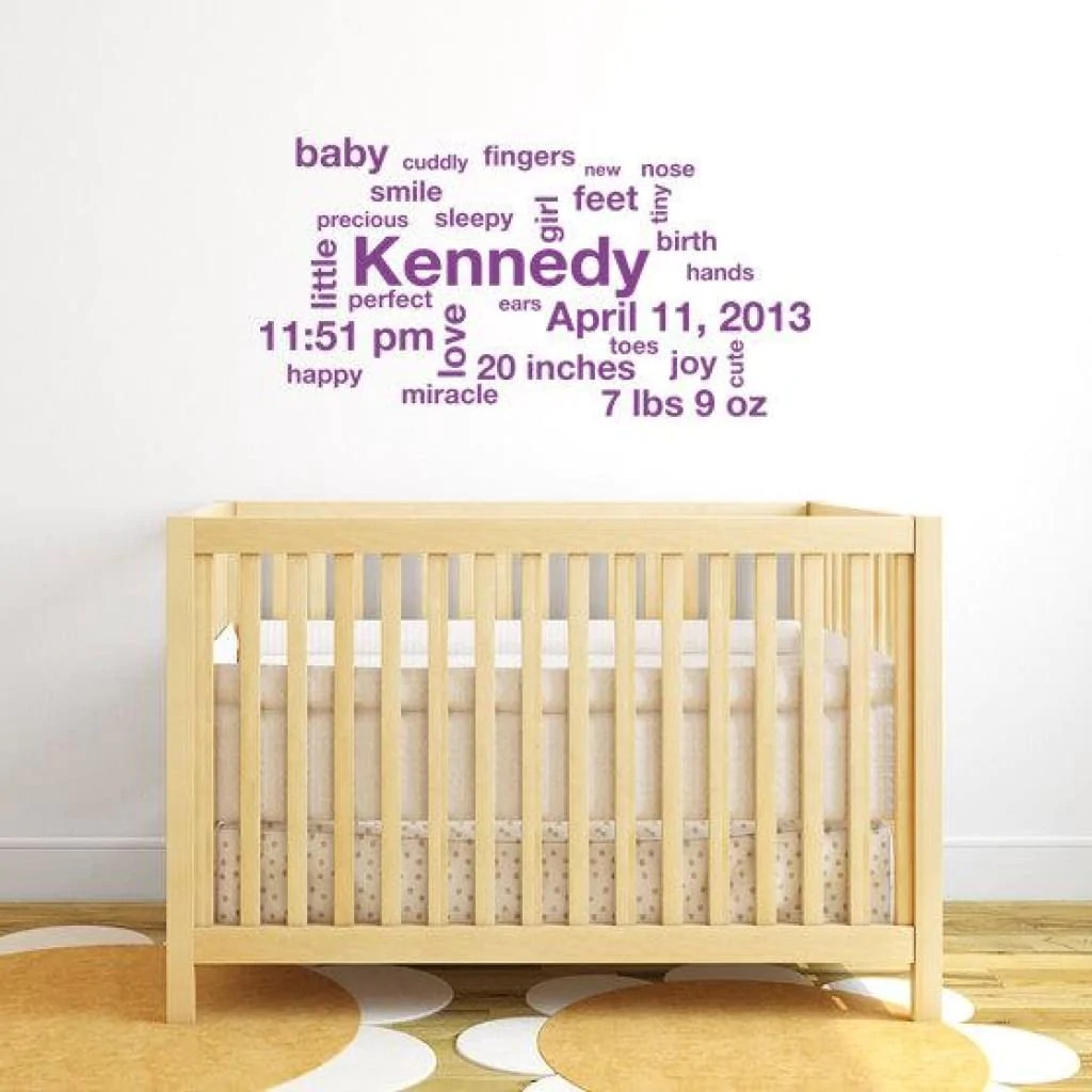 baby stats wall decal