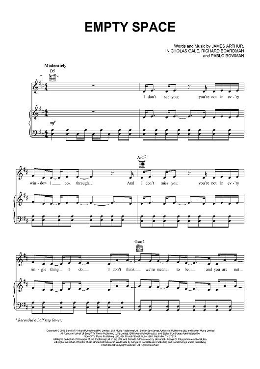Empty Space Chord : empty, space, chord,