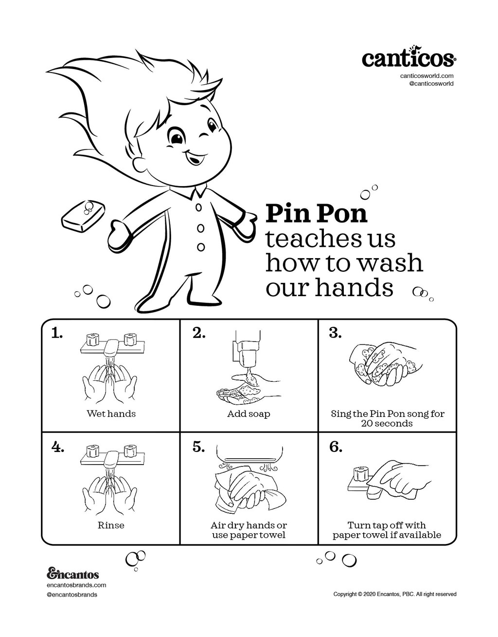 Pin Pon Canticos : canticos, Printable, Hands, Activity, Sheet