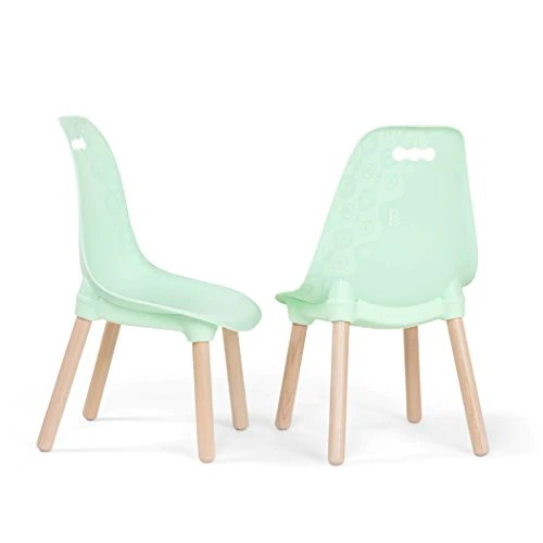 kids chair set stackable chairs b spaces by battat kid century modern trendy toddler of