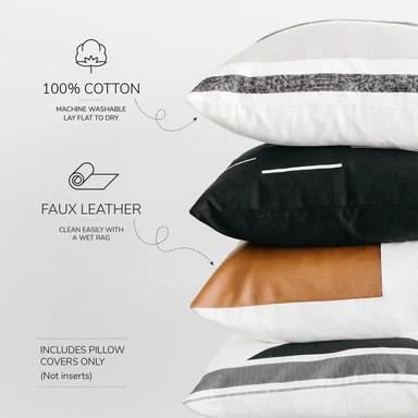 cotton stripes geometric faux leather