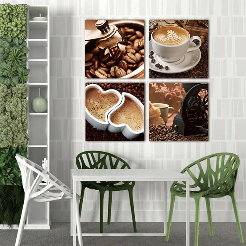 modern living room canvas art oak table sets painting wall print pictures for 4 piece coffee kitchen decoration