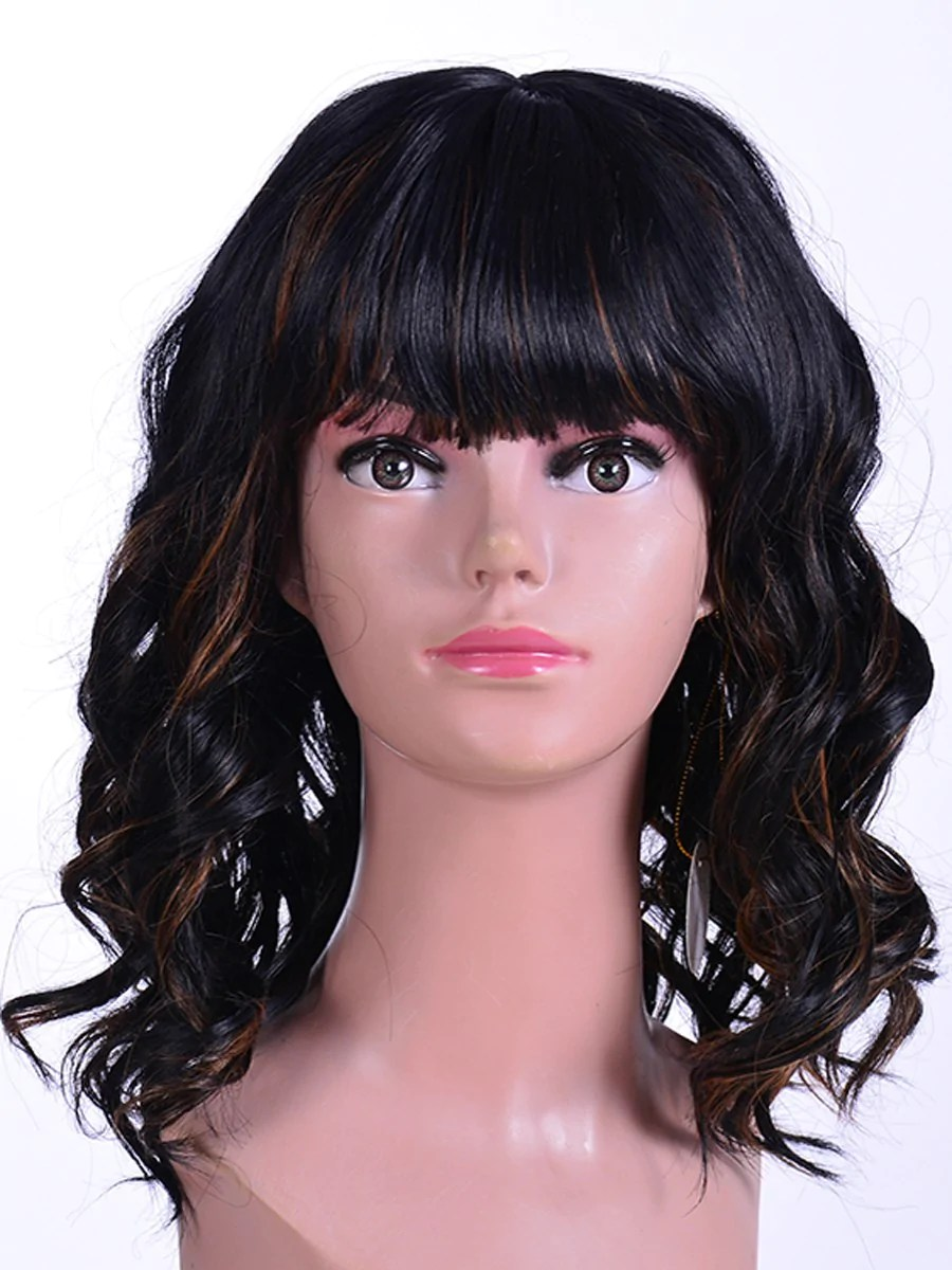 synthetic hair wig women gradient