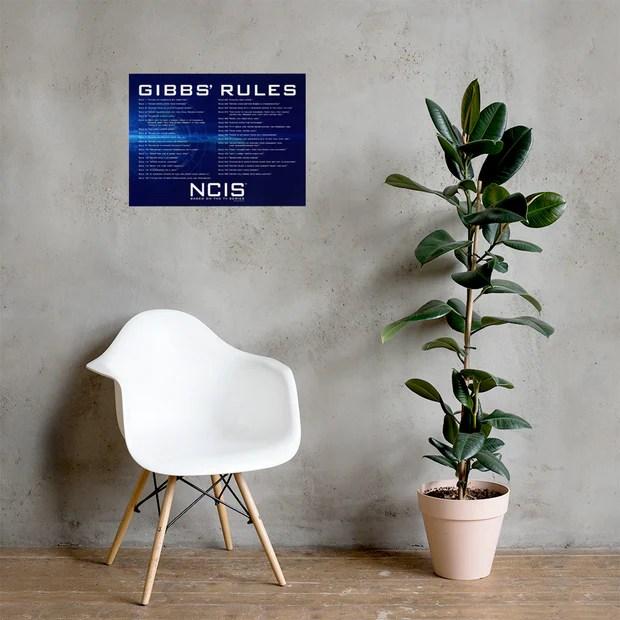 ncis gibbs rules poster 18