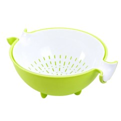 Kitchen Colander Cafe Curtains For 2 In 1 Strainer Bowl Sets The Trendy Kitchens