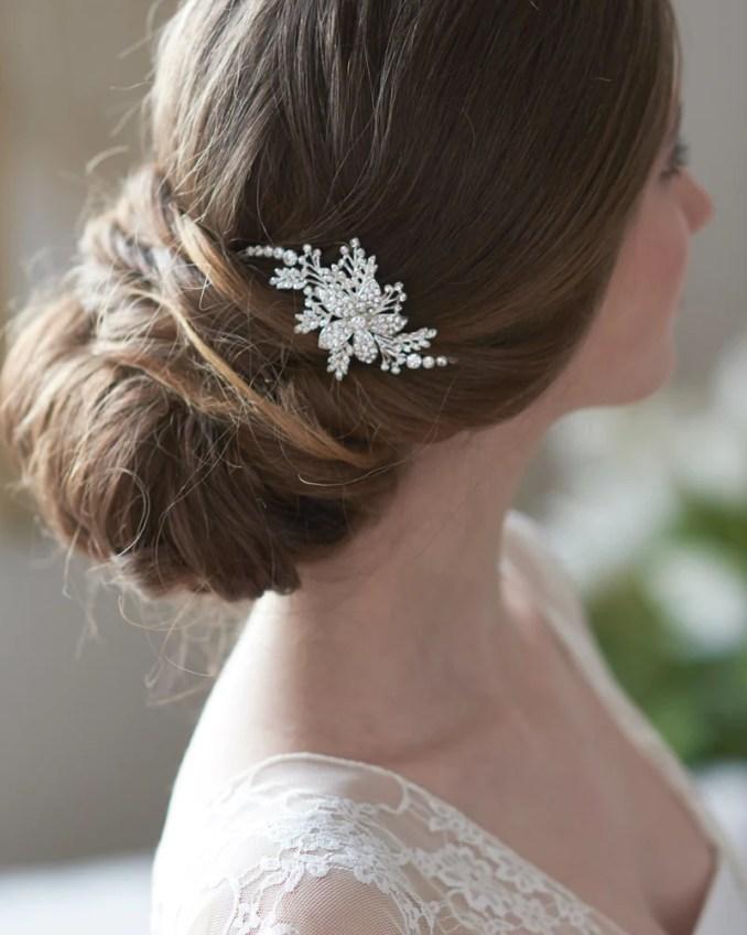 josie floral hair clip