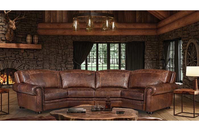 denver leather curved sofa hat creek