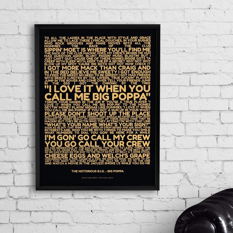 personalized favorite lyrics poster