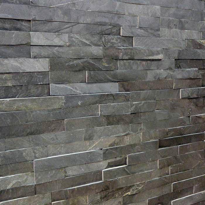 10x40cm black slate split face tile
