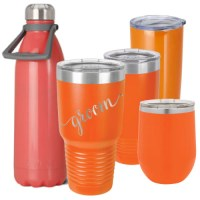 Orange Coral Personalized Insulated Stainless Steel ...