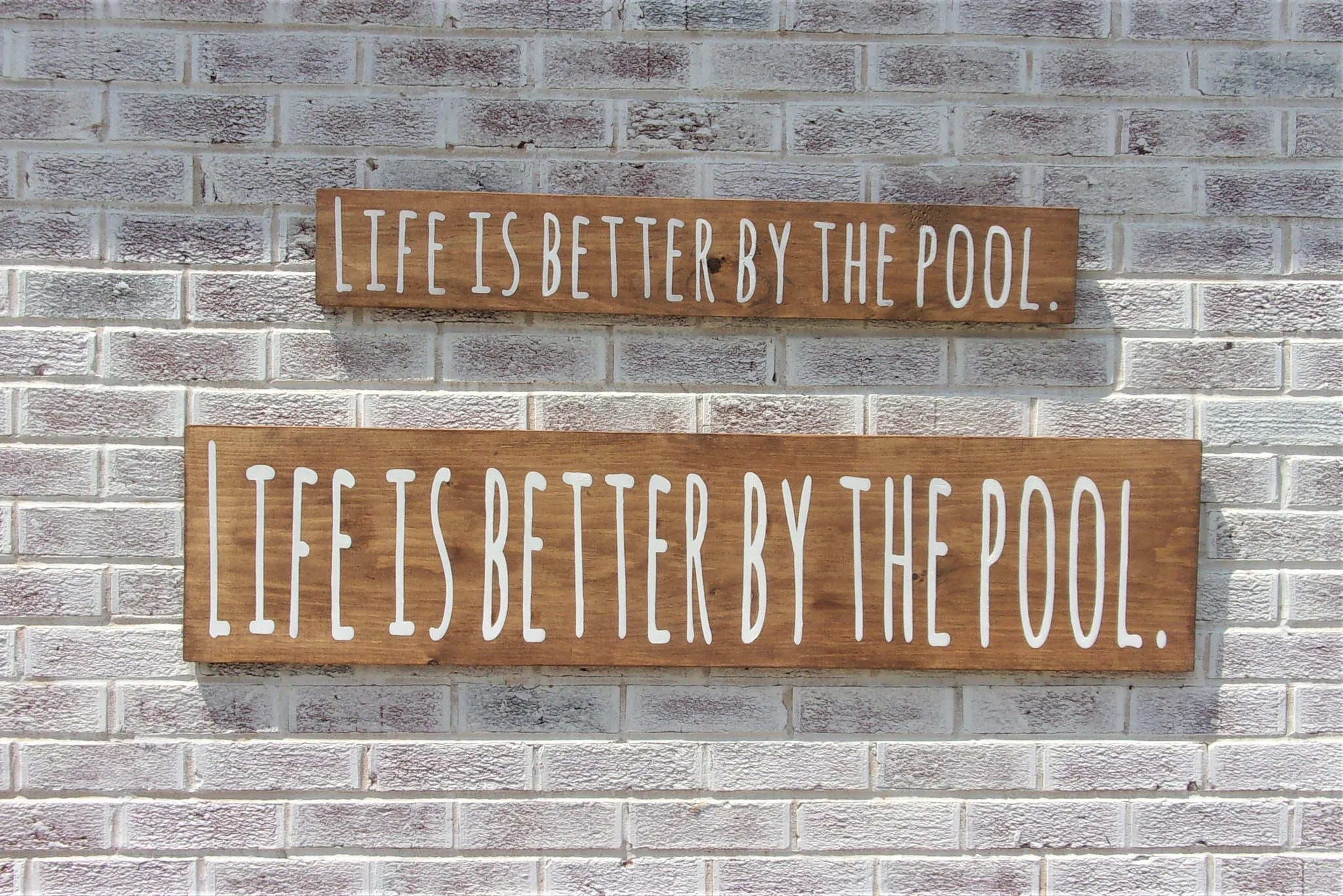 $38, shipping $5 sign reads: Life Is Better By The Pool Sign Ilovethatsign