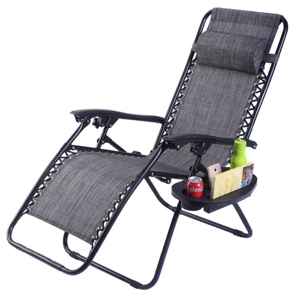 cup holder tray for zero gravity chair posture bad back outdoor lounge patio adjustable folding double tap to zoom