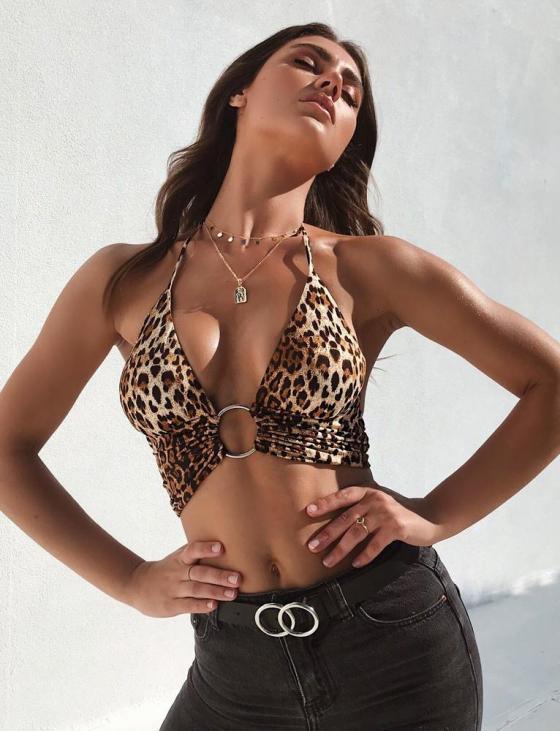 Animus Leopard Print Top