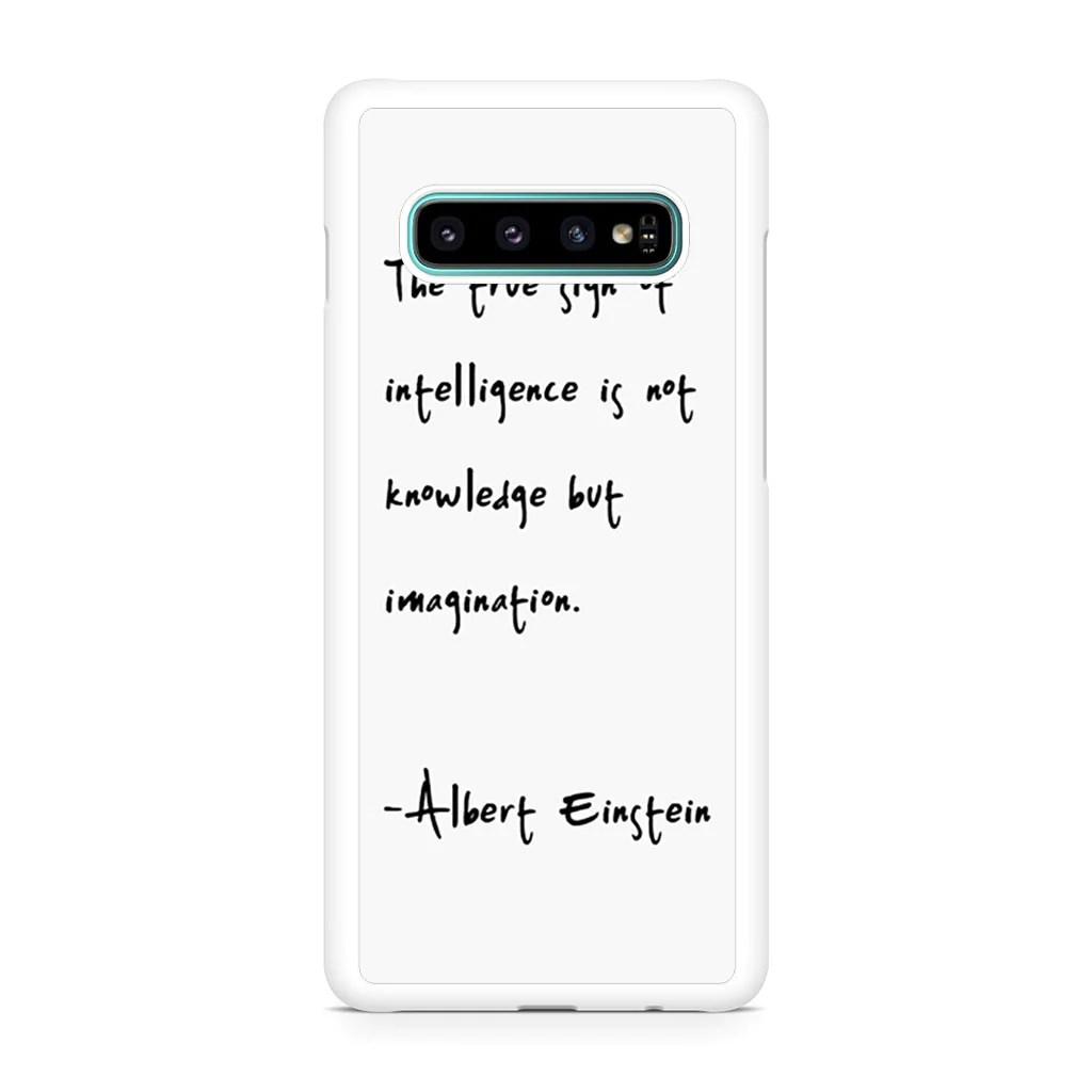 Albert Einstein Coque Samsung S10– Coques Personnalisées