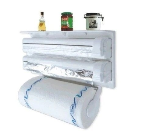 3 in 1 kitchen country style table triple paper dispenser holder foil cling load image into gallery viewer amp