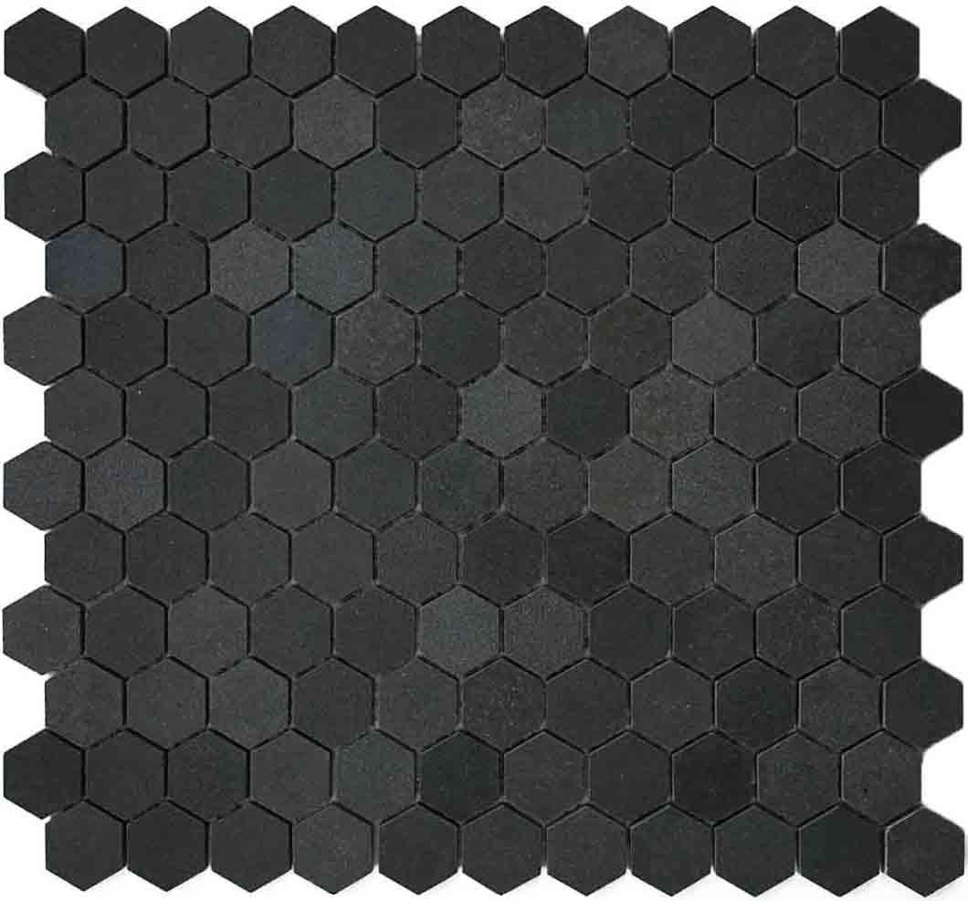 1 basalt hex mosaic tile