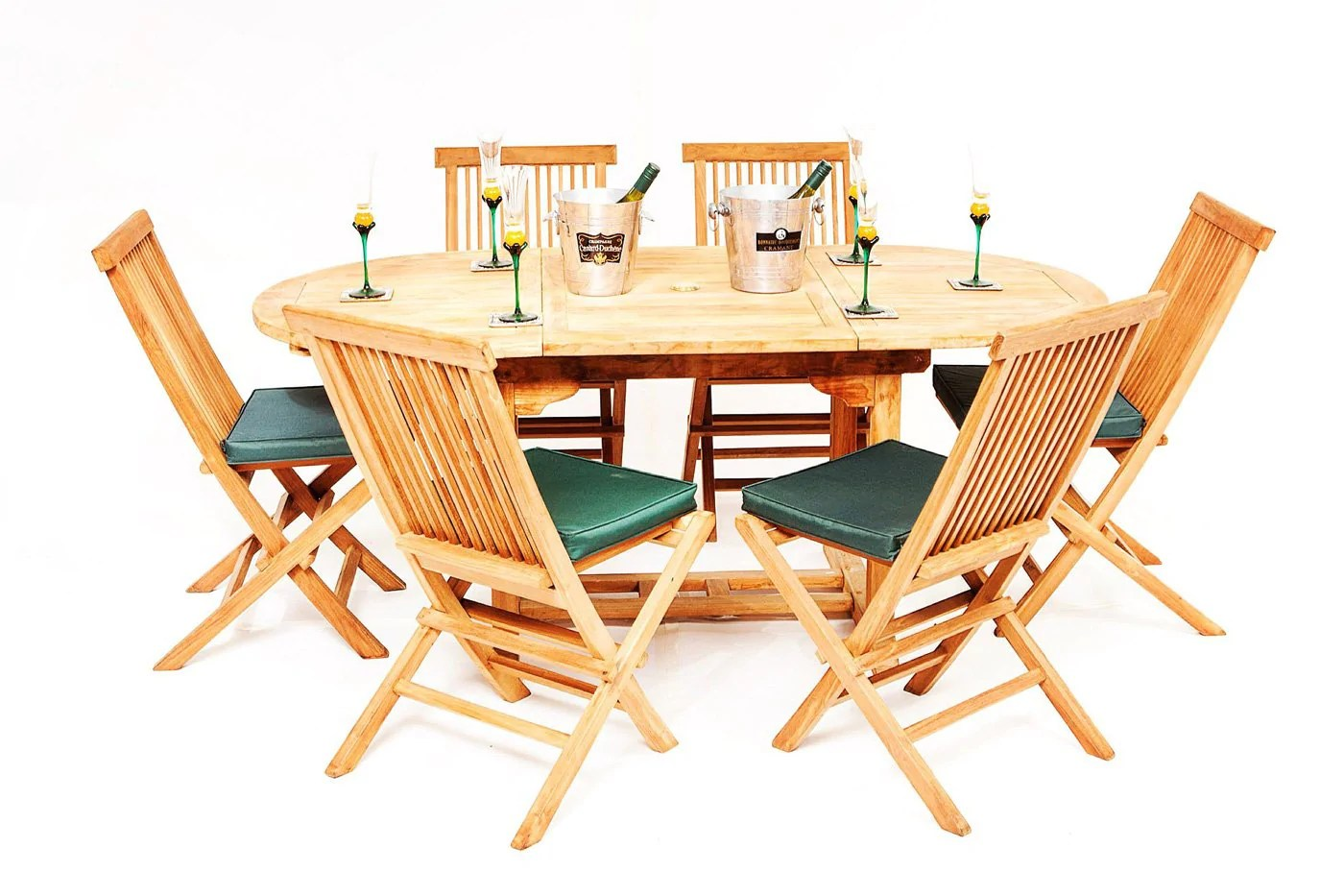 Outdoor Table And Chair Set The Beverley Teak 6 Seater Garden Table Chairs Set