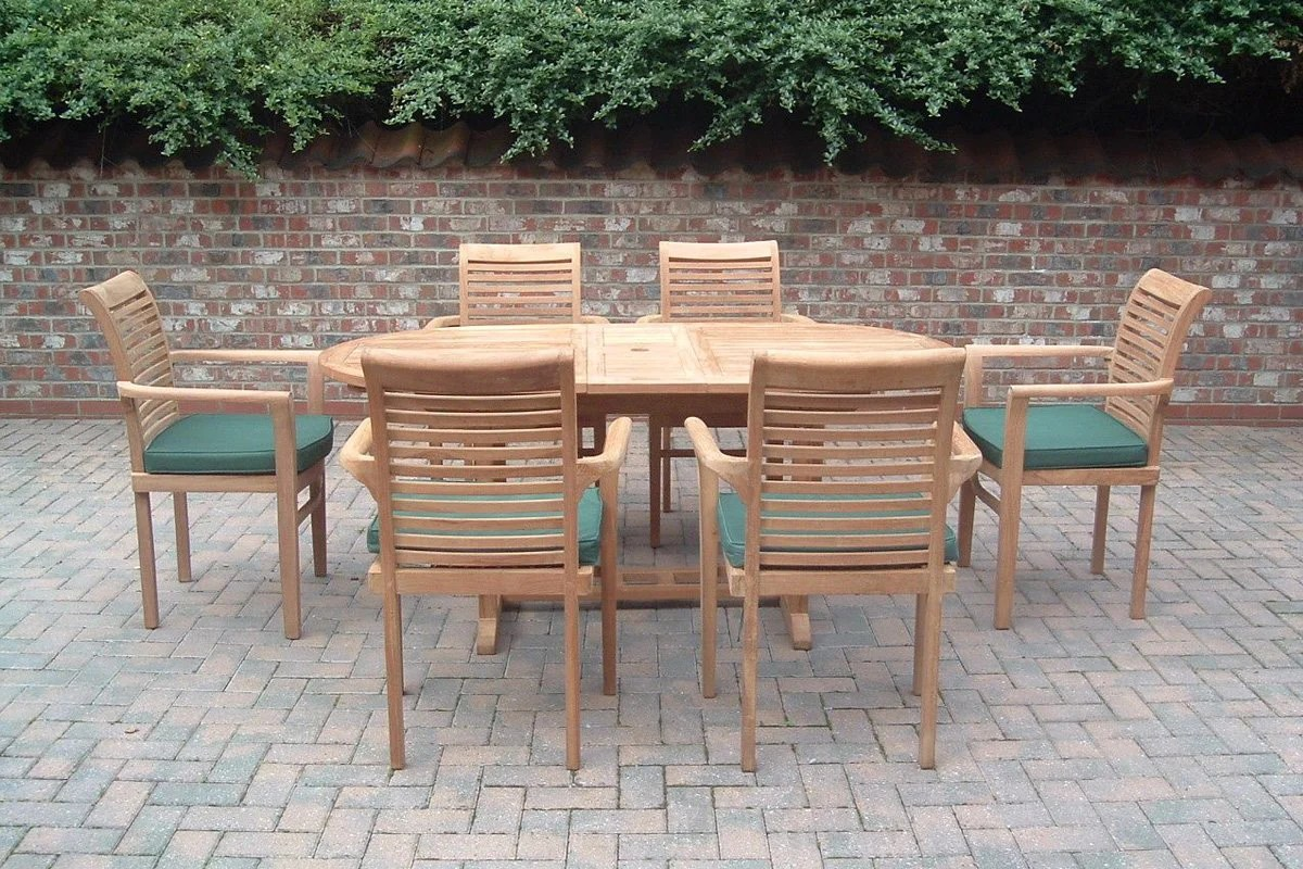 Outdoor Table And Chair Set The Malton Teak Garden Table Chairs Set