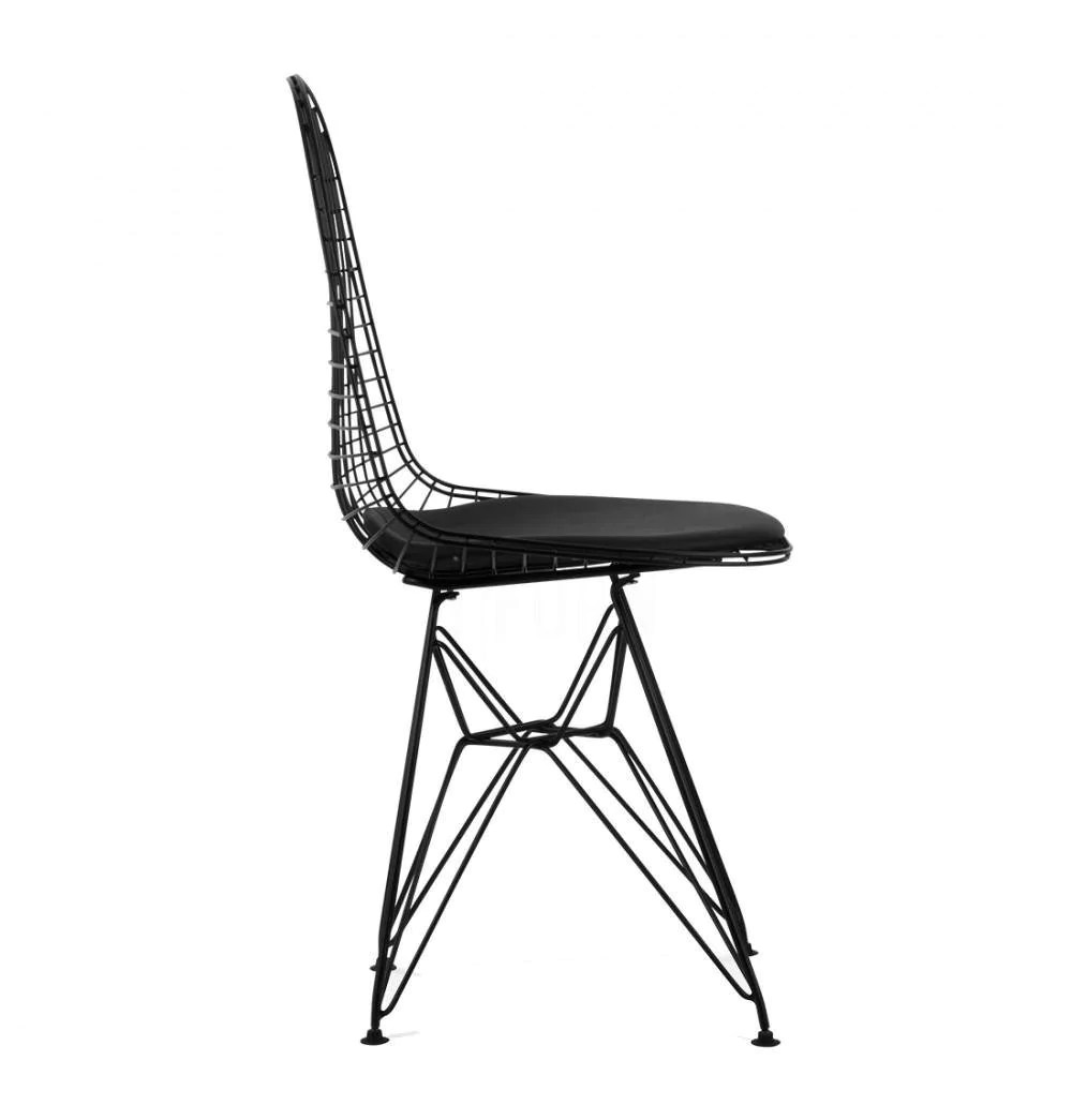 black wire chair wheelchair that stands you up dkr eiffel reproduction baciami load image into gallery viewer