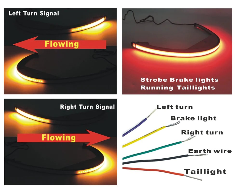 pazoma suzuki boulevard m109r led fender light sequential switchback flowing led tail brake turn signal [ 1000 x 809 Pixel ]