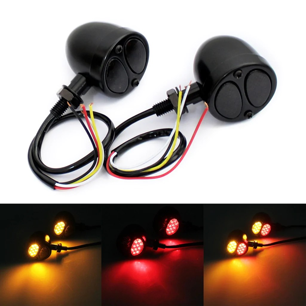 medium resolution of motorcycle 3 in 1 led turn signals w brake tail light blinkers turn indicator lights