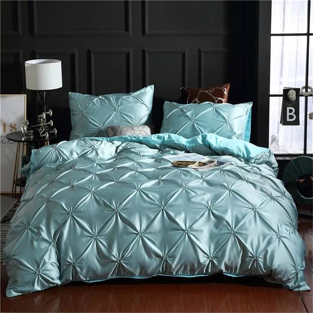 luxury 3 piece solid colors comfortable quilt twin king queen size duvet cover bedding set various colors