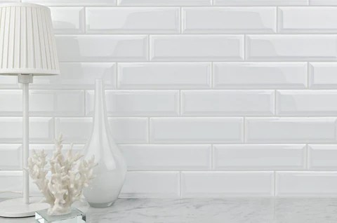 white glazed ceramic 3x10 subway tile