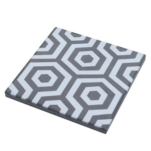 matte bay blue gray hexagon cement tile