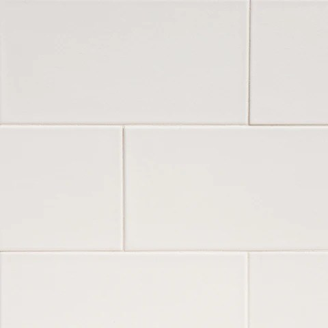 mtoz0006 modern 6x12 subway white crackle ceramic mosaic tile