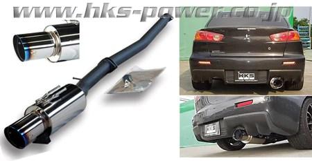 hks hi power catback exhaust evo x 08 up