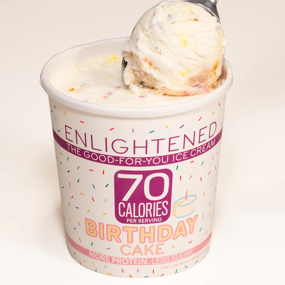 Birthday Cake Ice Cream Pint Enlightened Enlightened Ice Cream
