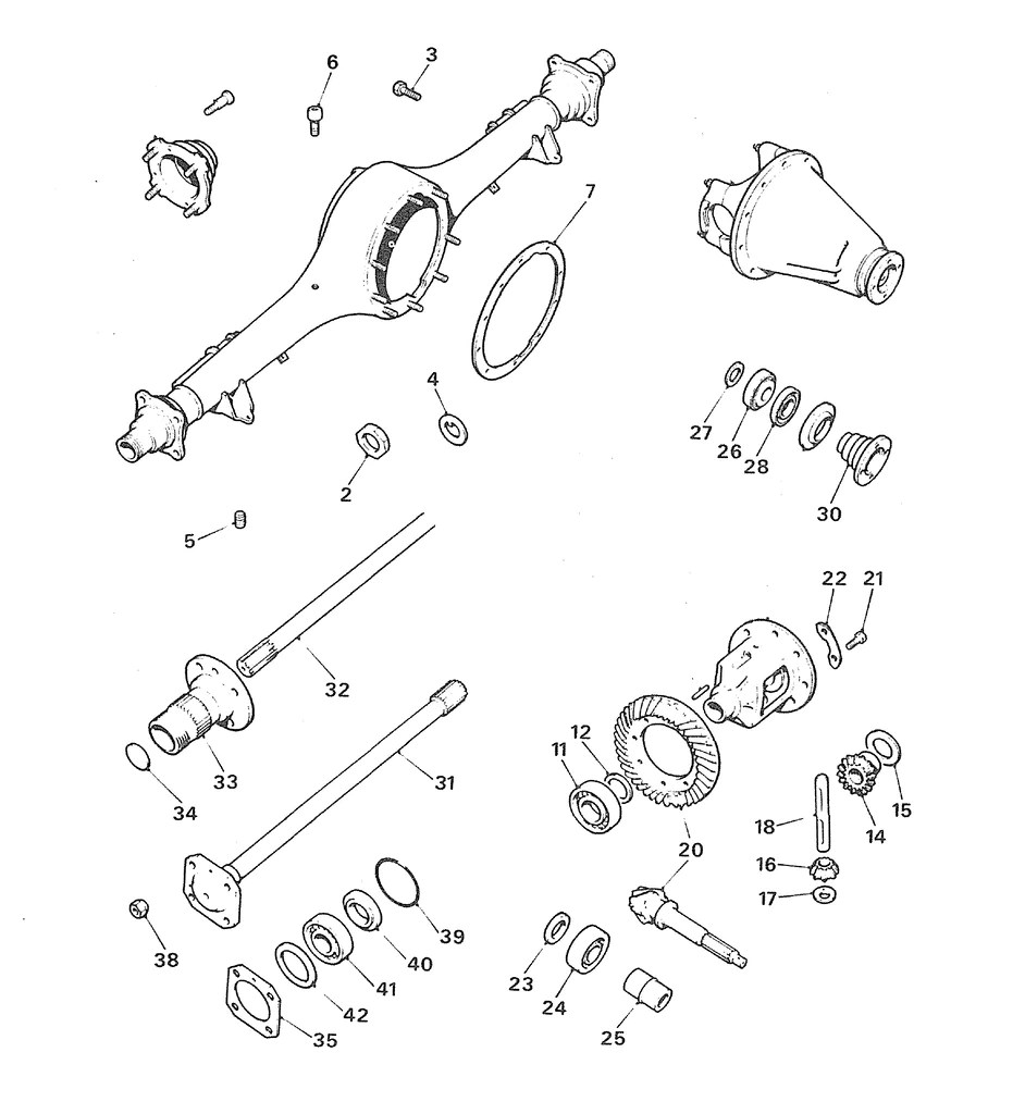 small resolution of mgb early banjo rear axle