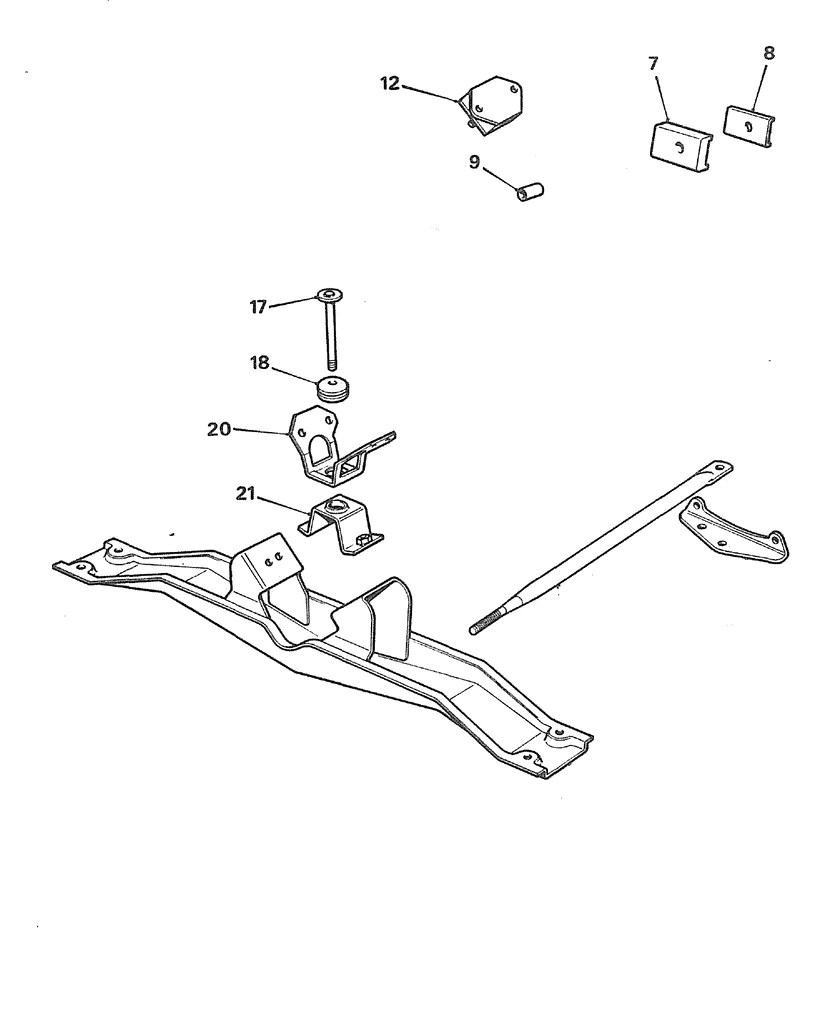 hight resolution of mgb gearbox mount late