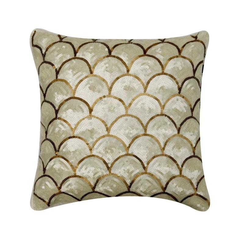 ivory art silk throw pillow cover mermaid affair the homecentric
