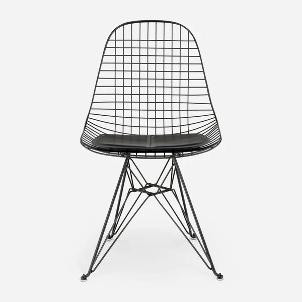 black wire chair ruffled wedding covers for sale case study furniture eiffel modernica inc