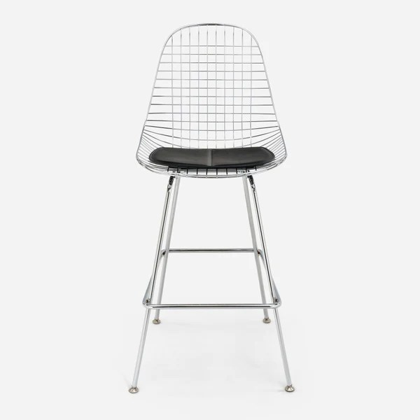 black wire chair small comfortable case study furniture h base bar stool modernica inc chrome